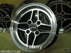 Ford Escort Capri Cortina 7x13 Alloy Wheel Set Jbw Rs4 Spoke Style 13x7 7 X 13