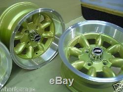 Ford Escort Capri Cortina 7x13 Deep Dish Roues En Alliage Set Jbw Minilight Style