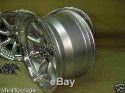 Ford Escort Capri Cortina 8x15 Deep Dish Roues En Alliage Set Jbw Minilight Style