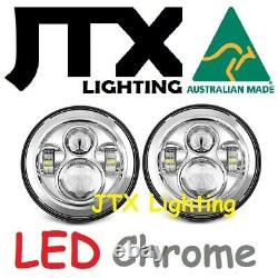 Jtx 7 Phares Led Chrome Sans Halo Ford Cortina Mk1 Mk2 Escort