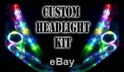 Led Rgb Head Light Halo Angel Eye Drl Retrofit Bluetooth Universelle Personnalisée