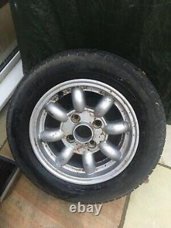 Minilite Style Alloy Wheels Ensemble De 4. Ford Escort, Cortina, Anglia Etc