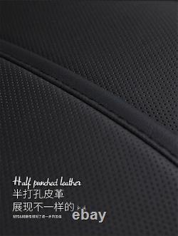 Noir Luxe Plein Siège Cuir Microfibre 6d Surround Car Seat Cover Set Coussin