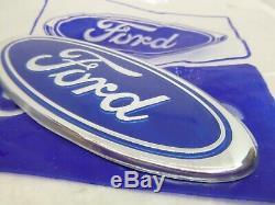 Nos Light Blue Ford Escort Mk2 Mk3 Mk4 Capri Sierra Cosworth Cortina Badge Ford