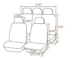 Nouveau 5d Luxury Pu Leather Car Seat Cover Full Surround 5-seat Protector Coussins