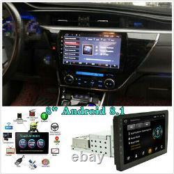 Réglable 8 1 Din Android 8.1 Voiture Stéréo Radio Fm Mp5 Player Nav Gps Bt Wifi