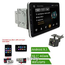 Rotatable 10.1po 2din Car Mp5 Player Android 9.1 Radio Stereo Gps Wifi Fm+camera