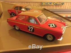 Scalextric Numérique Alan Mann Racing L. E Ford Lotus Cortina & Ford Escort C2981
