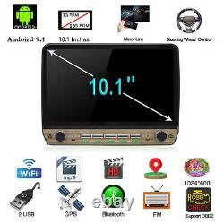 Un Seul 1din 10.1in Hd Écran Tactile Voiture Stéréo Radio Fm Gps Navigation Mp5