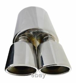 Universal Performance Free Flow T304 Stainless Steel Exhaust Back Box Fd1