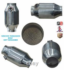 Universal T304 Stainless Sports Cat Catalytic Convertisseur 2,5 Pouces 300 Cell-frd1