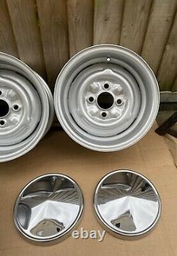 Véritable Fergat 6 Lotus Steel Wheels, Ford Cortina Mk1 Mk2 Escort Anglia 105e