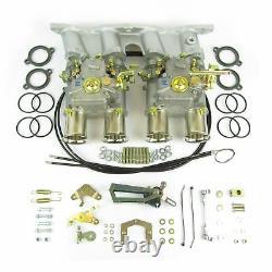 Véritable Kit Double Carburateur Weber 45dcoe Pour Ford Escort Cortina Pinto 2.0 / 2.1