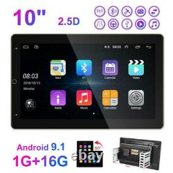 Voiture Double 2din 10inch Android 9.1 Gps Navi Stereo Radio Mp5 Player Wifi Mlk Bt