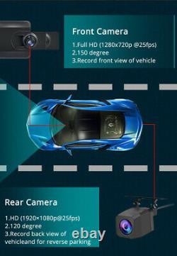 Vue Arrière Miroir Dash Cam Caméra Vidéo Enregistreur Voiture Dvr Wifi Adas Bt Gps Sat Nav